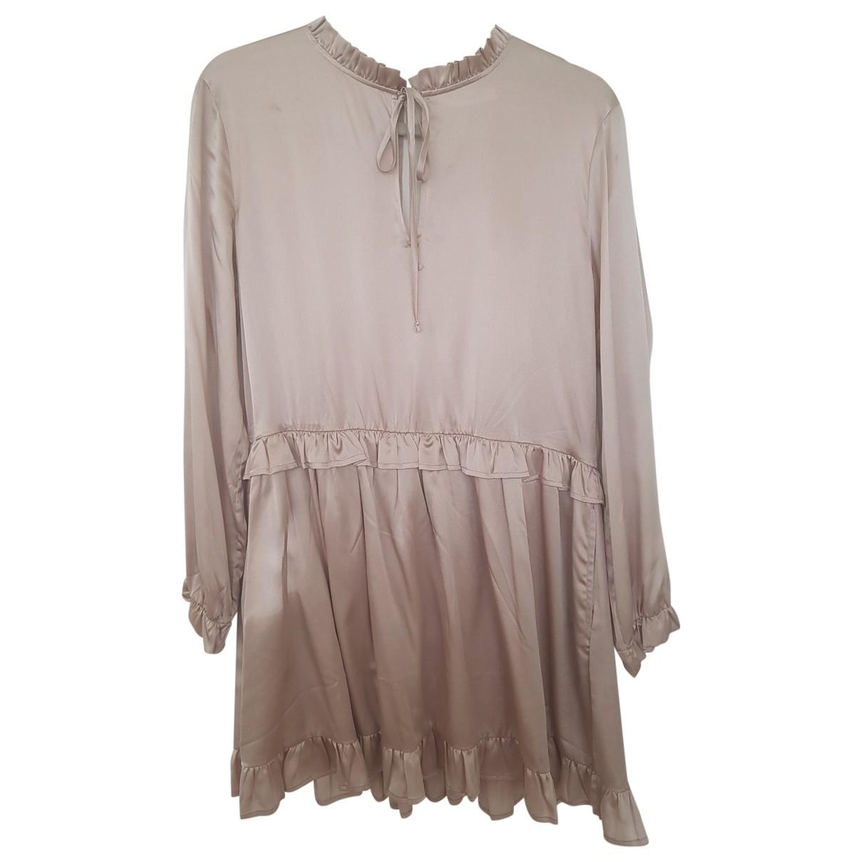 Anine Bing \N Kleid in  Rosa Seide