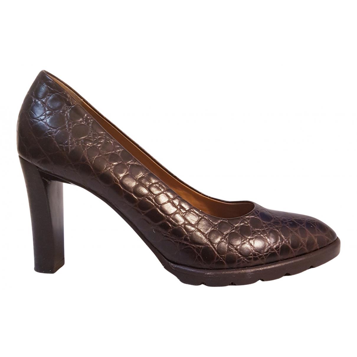 Walter Steiger N Black Exotic leathers Heels for Women 38.5 EU