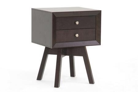 ST-005-AT Baxton Studio Warwick Modern Accent Table And Nightstand  In
