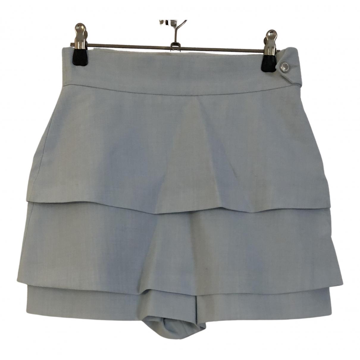 Maje N Blue Wool skirt for Women 38 FR