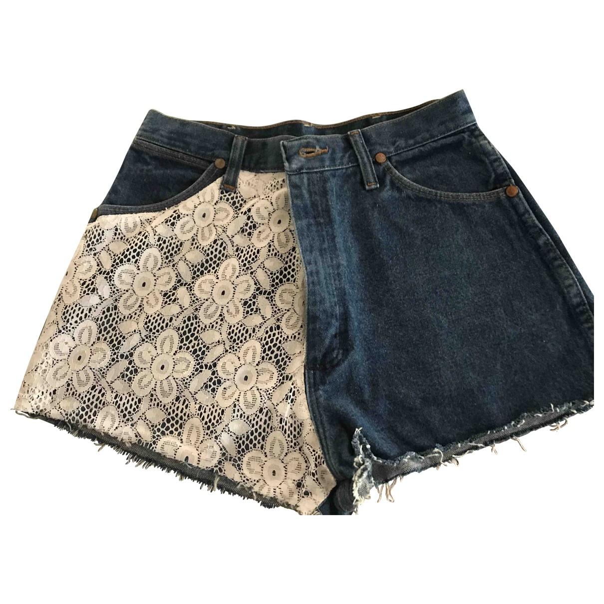 Wrangler \N Shorts in  Blau Denim - Jeans
