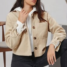 Collared Single Breasted Pocket Front Jacket