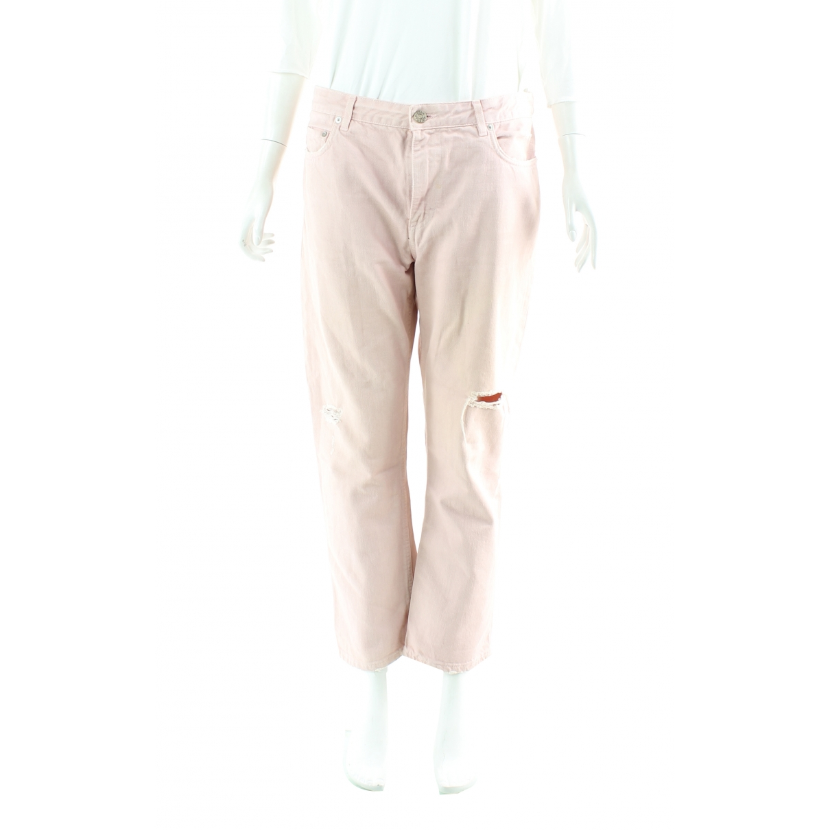 Acne Studios \N Pink Cotton Jeans for Women 38 FR