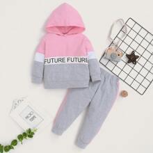 Baby Girl Cut And Sew Hoodie & Sweatpants