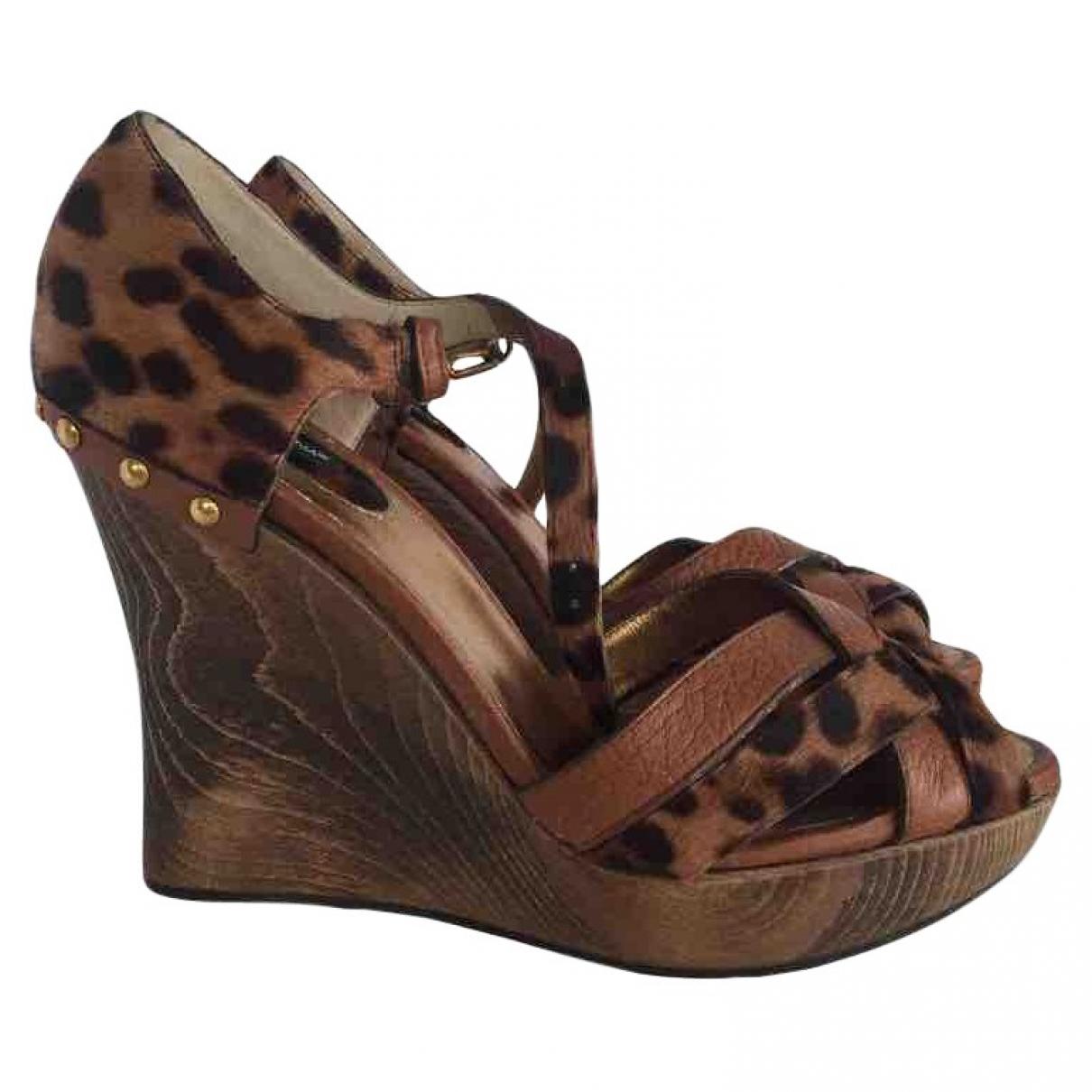 Sandalias de Piel de potro de imitacion Dolce & Gabbana