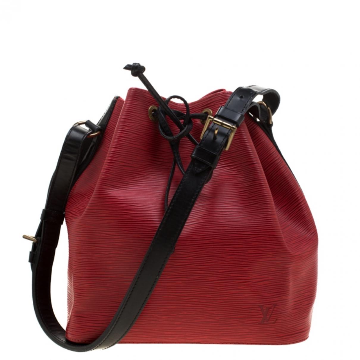 Louis Vuitton NéoNoé Red Leather handbag for Women \N