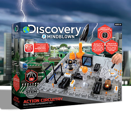Discovery #MINDBLOWN Action Circuitry Electronic Experiment Set, One Size , Multiple Colors