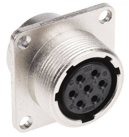 Hirose Connector, 7 contacts Panel Mount Socket, Solder