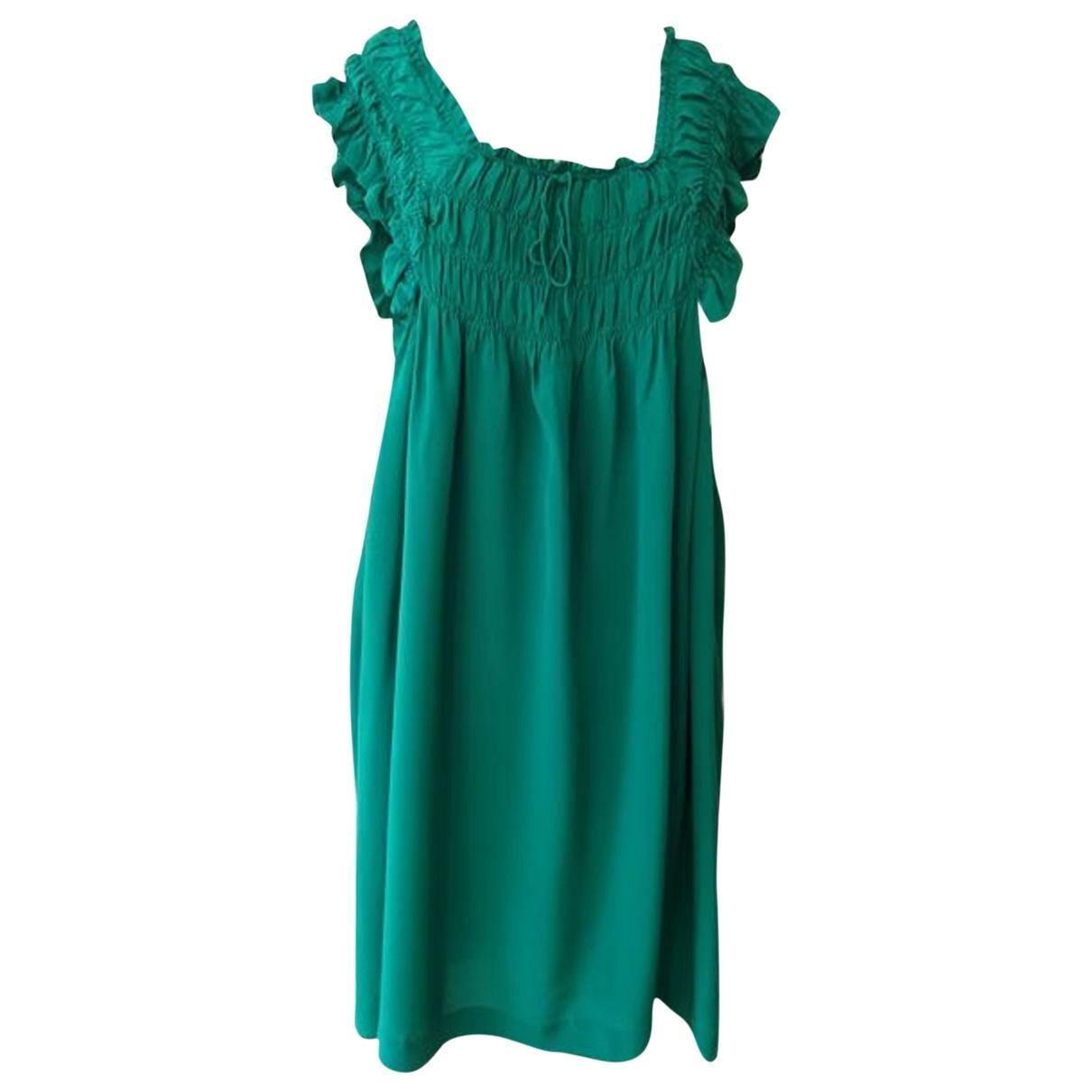 Isabel Marant Etoile \N Kleid in  Gruen Seide