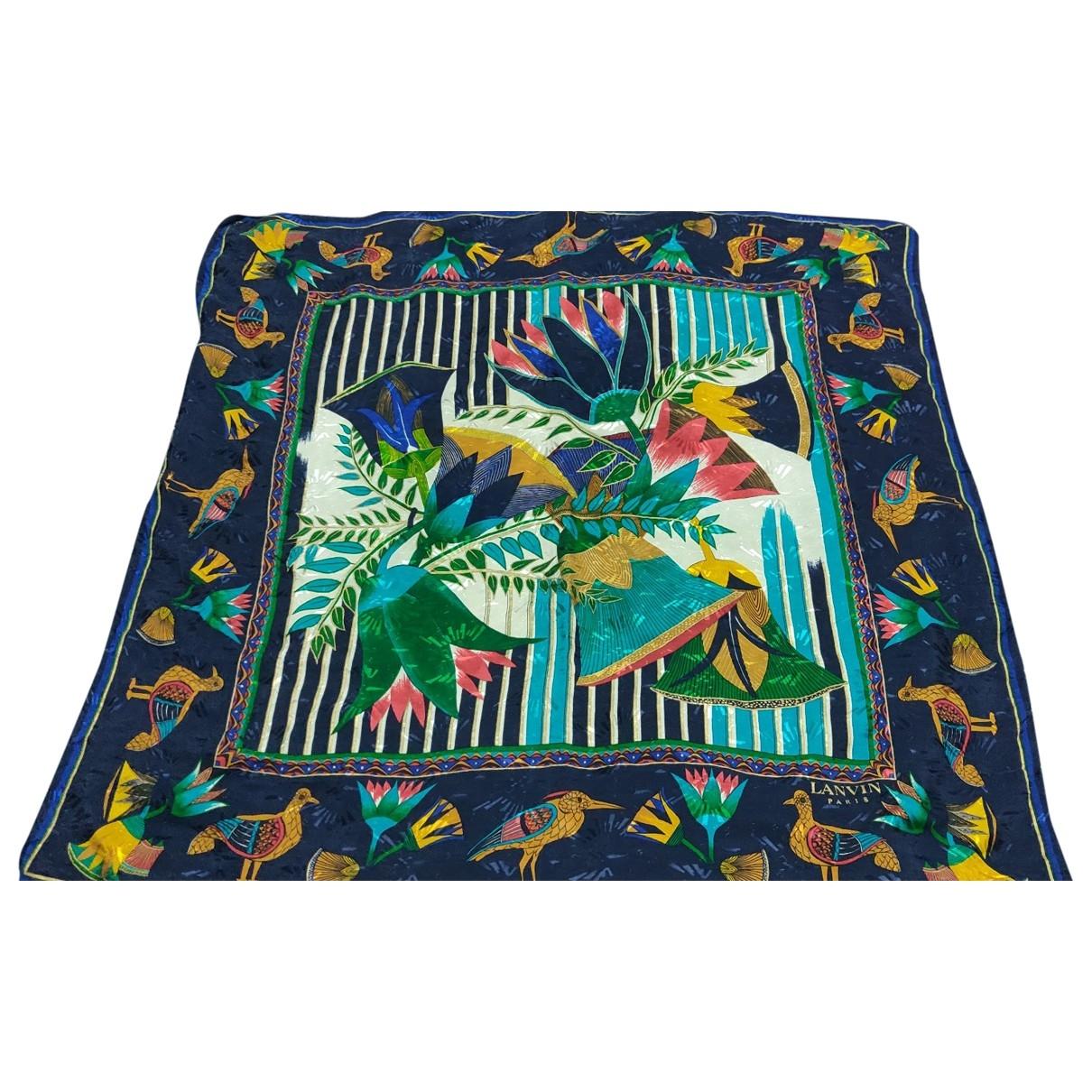 Lanvin \N Blue Silk scarf for Women \N