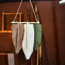 1 Stueck gewebter Wandbehang mit Feder Design