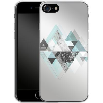Apple iPhone 8 Silikon Handyhuelle - Graphic 110 - Turquoise von Mareike Bohmer