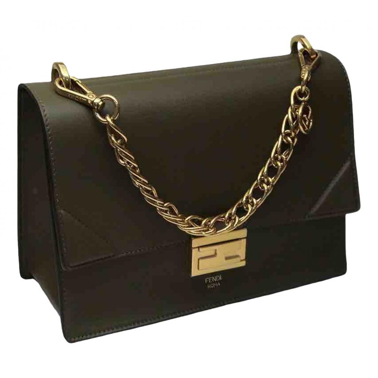 Fendi Kan U Khaki Leather handbag for Women \N