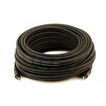 Premium 3.5mm Stereo Male to 3.5mm Stereo Male 22AWG Cable - Black (11 Lengths) - Monoprice® - 50ft