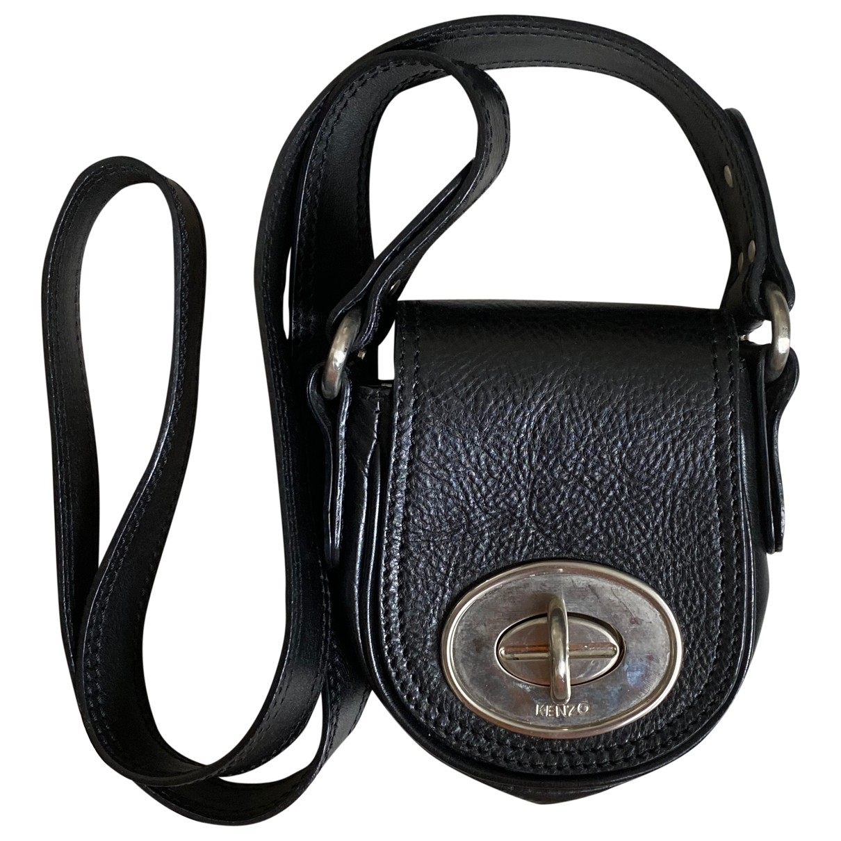 Kenzo \N Clutch in  Schwarz Leder