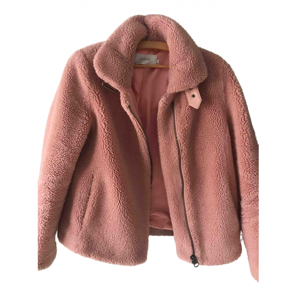 Stand Studio N Pink Faux fur jacket for Women 38 FR