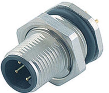 Binder Connector, 8 contacts Panel Mount M12 Socket, Solder IP67
