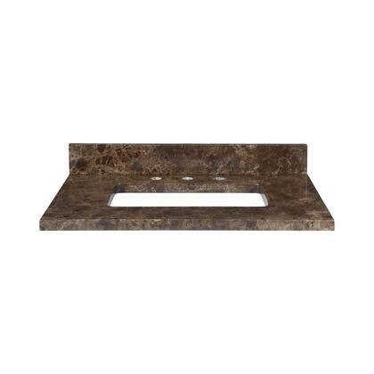 MAUT37RDE Stone Top - 37-inch for Rectangular Undermount Sink  in Dark Emperador