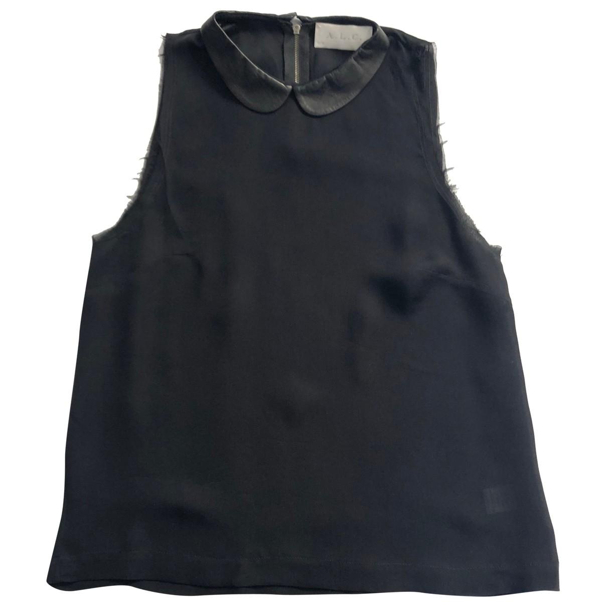 A.l.c - Top   pour femme en soie - noir