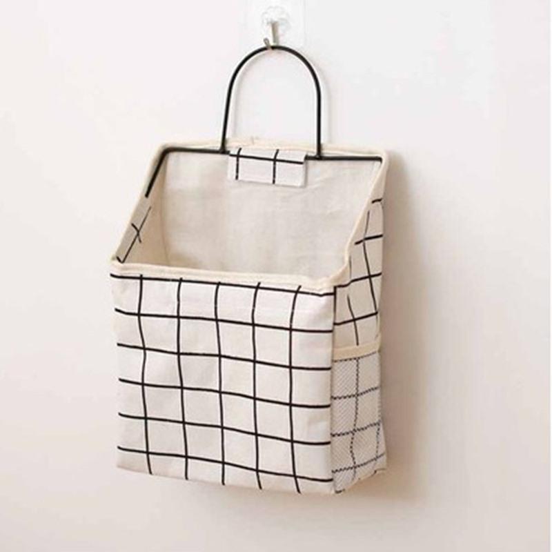 Ericdress Linen Simple Storage Basket