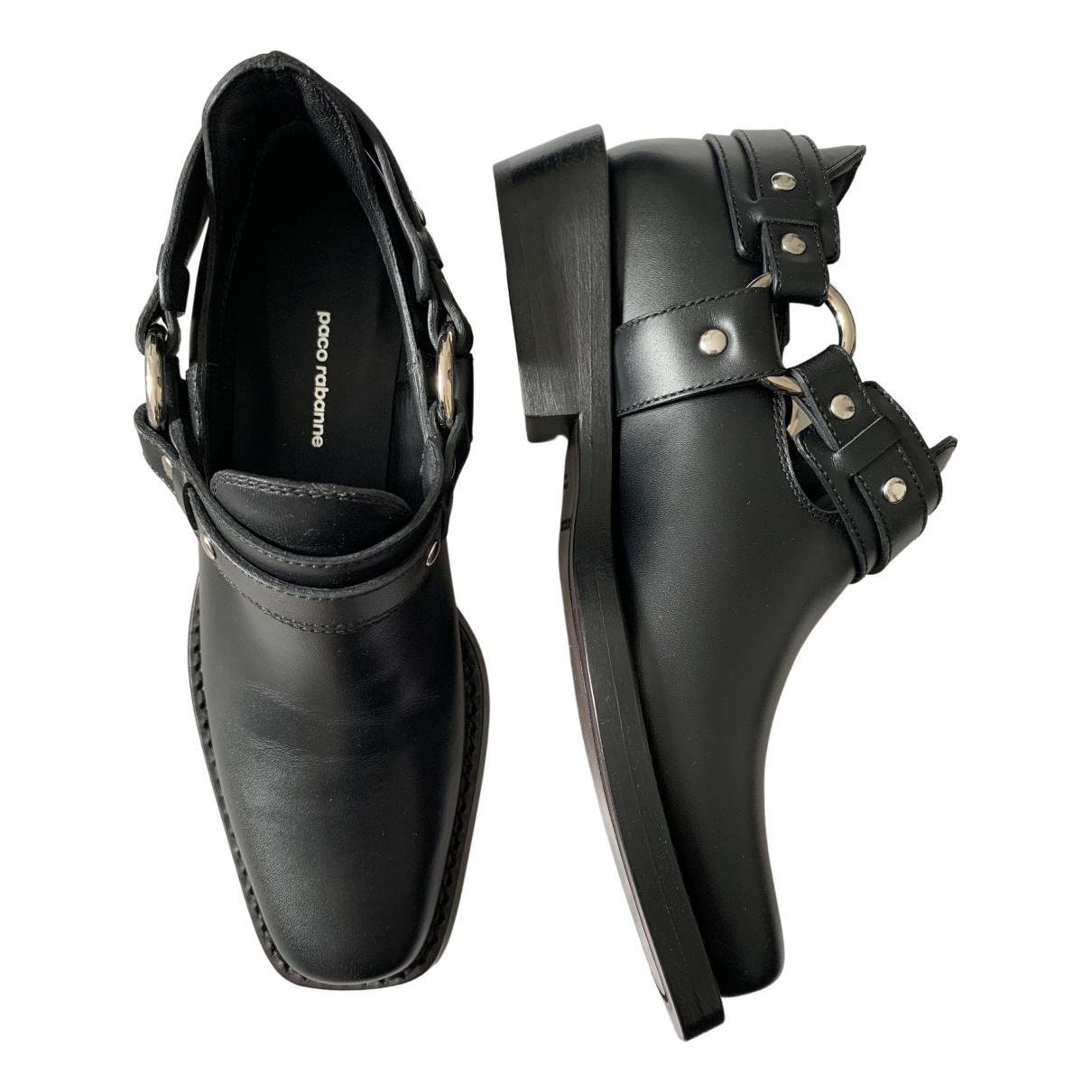Paco Rabanne - Boots   pour femme en cuir - noir