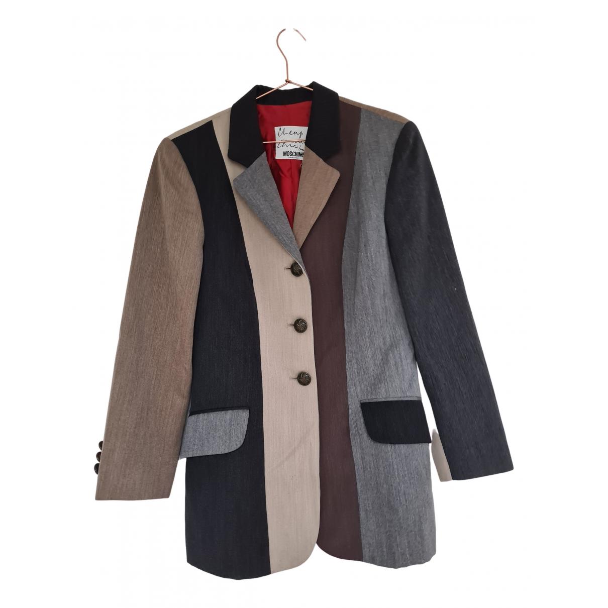Moschino Cheap And Chic - Veste   pour femme en laine - gris