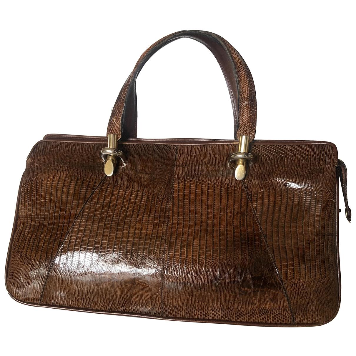Non Signe / Unsigned \N Handtasche in  Ecru Echse