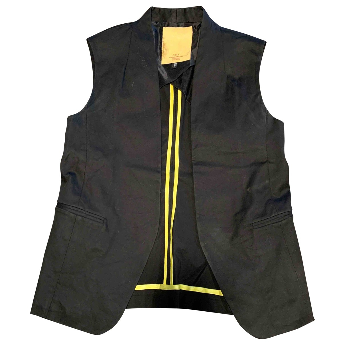 Costume National \N Jacke in  Schwarz Baumwolle
