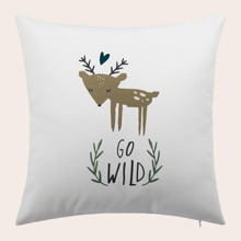 Deer Print Cushion Cover Without Filler