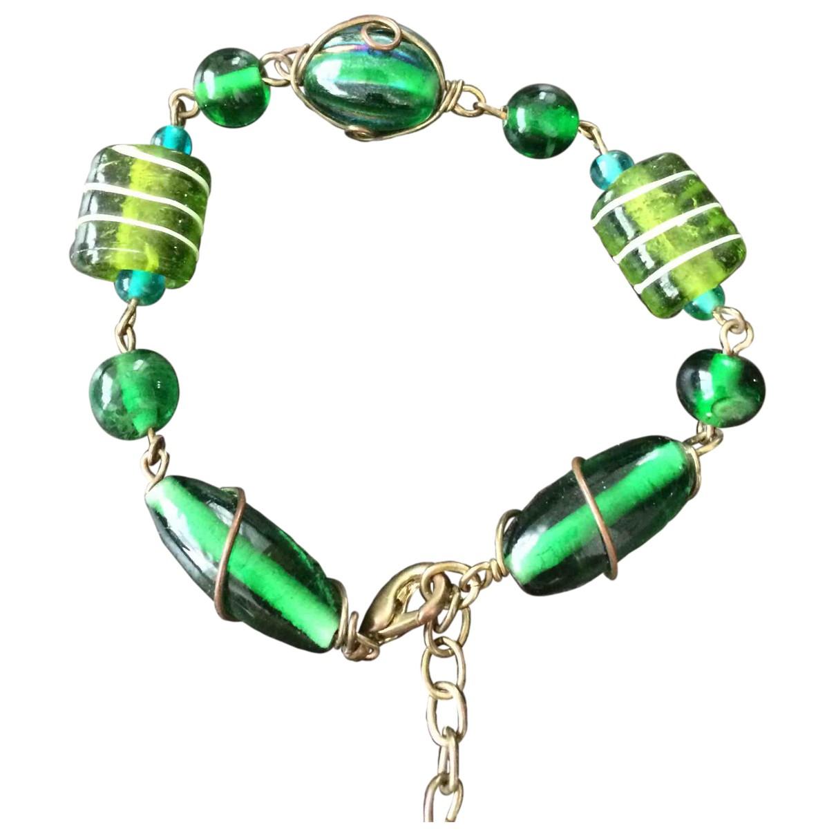 Non Signé / Unsigned N Green bracelet for Women N