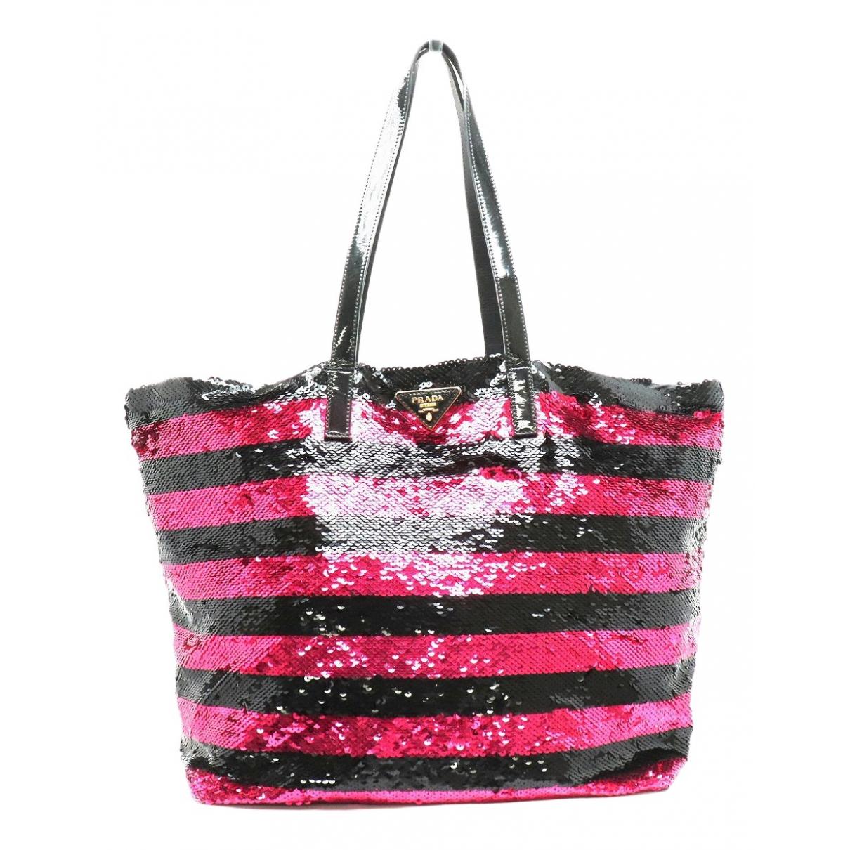 Prada N Black Glitter handbag for Women N