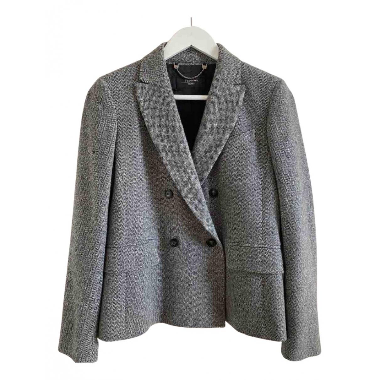 Max Mara Weekend - Veste   pour femme en laine - gris