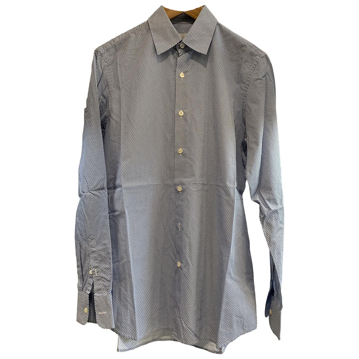 Prada \N Blue Cotton Shirts for Men 15 UK - US (tour de cou / collar)