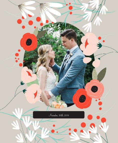 Wedding Framed Canvas Print, Black, 16x20, Home Décor -Wedding Bouquet