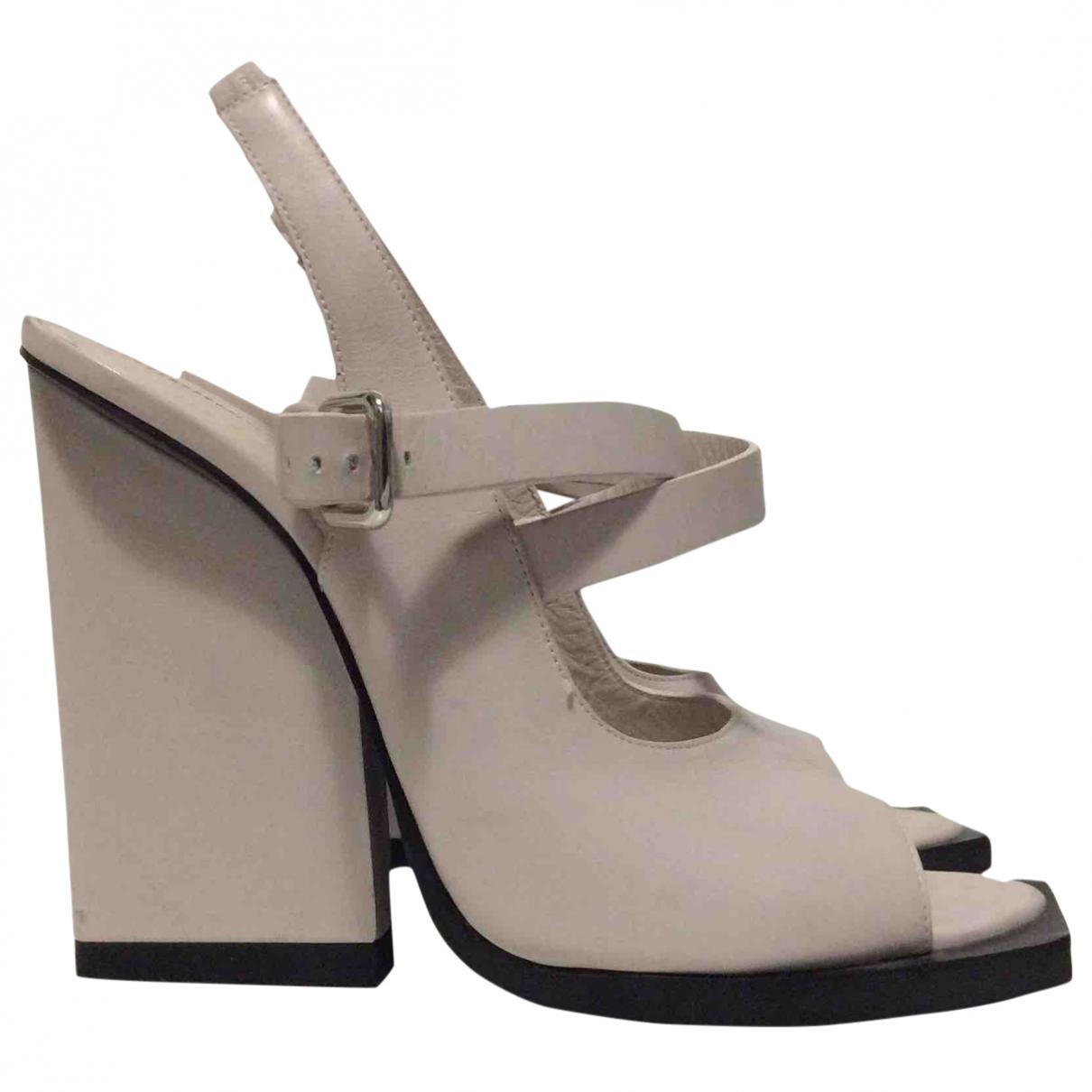 Jil Sander - Escarpins   pour femme en cuir - blanc