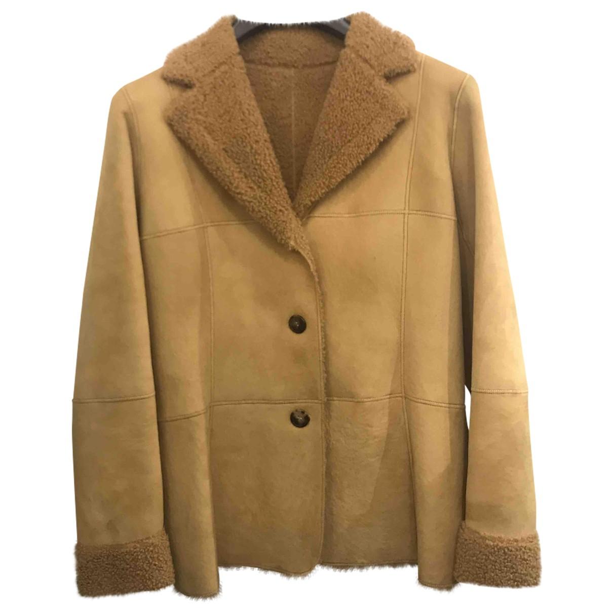 Loewe - Manteau   pour femme en mouton - camel