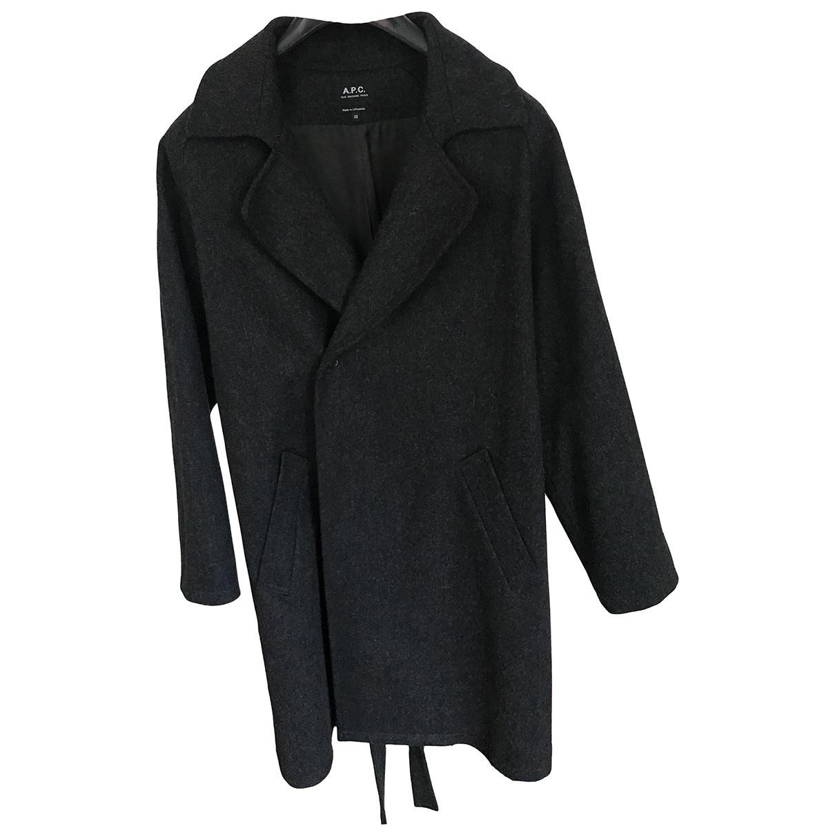 Apc - Manteau   pour femme en laine - anthracite
