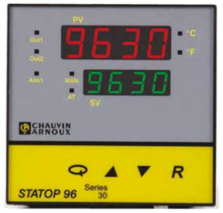 Pyro Controle STATOP 96 PID Temperature Controller, 2 Output, 90  260 V ac Supply Voltage