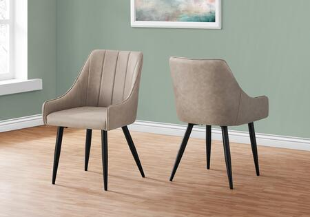 I 1188 Dining Chair - 2Pcs 33H Taupe Fabric Black