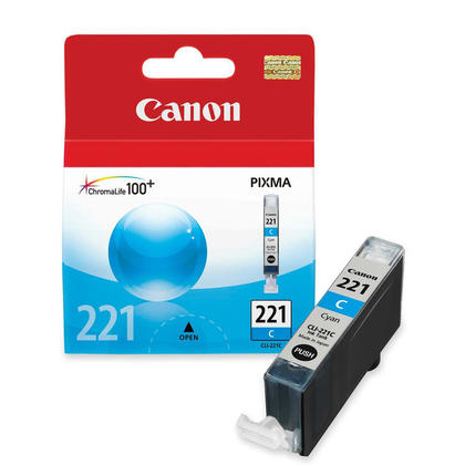 Canon CLI-221C Original Cyan Ink Cartridge