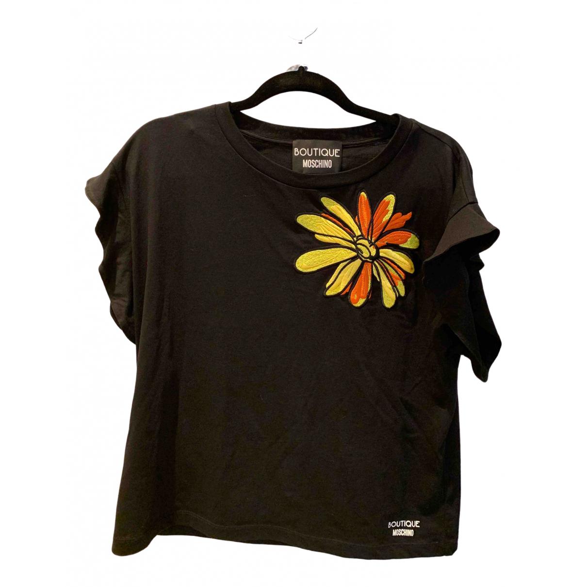 Moschino - Top   pour femme en coton - noir