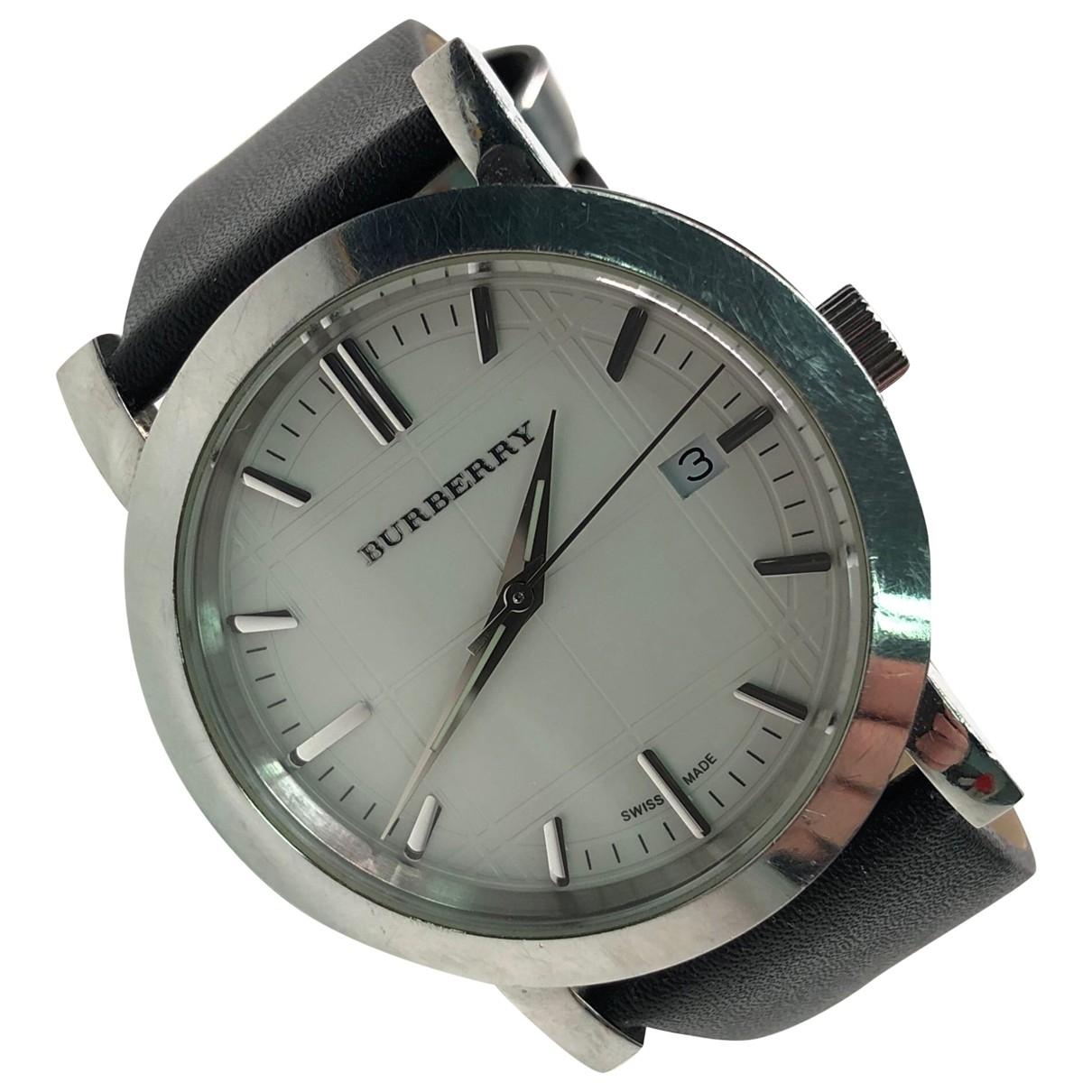 Burberry \N Silver Steel watch for Women \N
