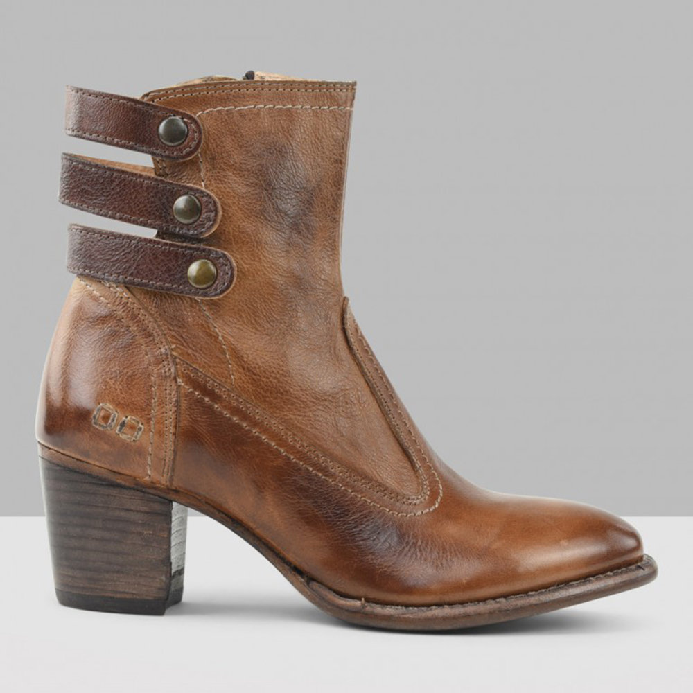 Back Hollow Chunky Heel Ankle Boots