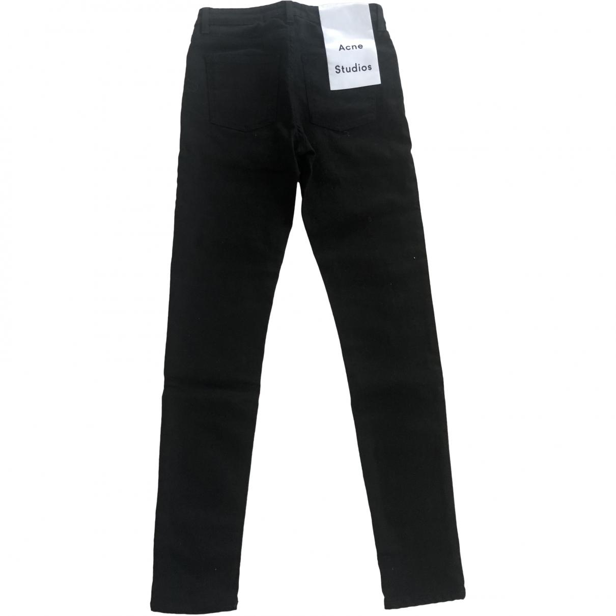 Acne Studios \N Black Denim - Jeans Trousers for Women 32 FR