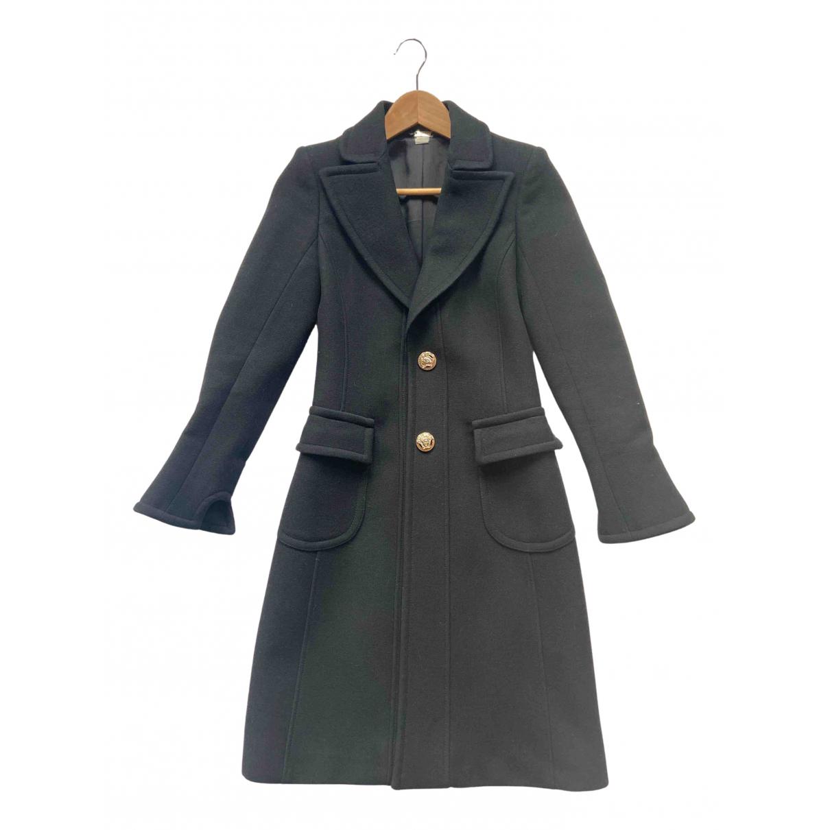 Versace - Manteau   pour femme en laine - noir