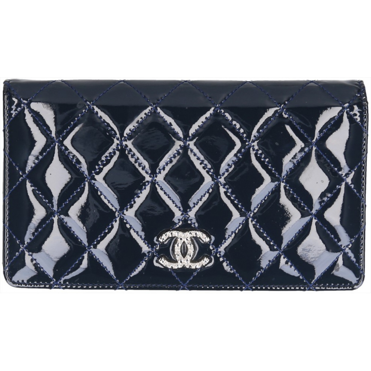 Chanel \N Blue Patent leather wallet for Women \N