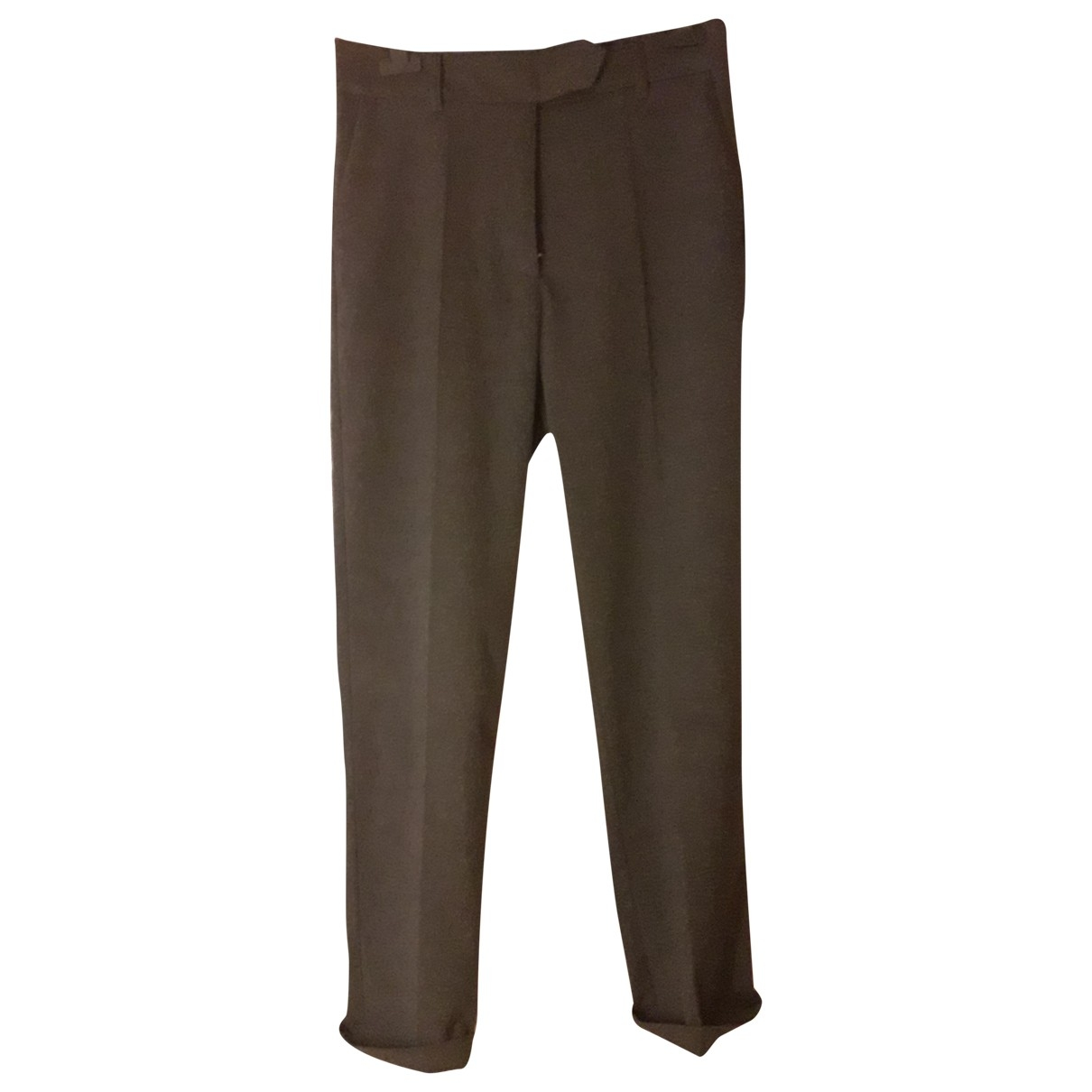 Non Signé / Unsigned \N Anthracite Trousers for Women 36 FR
