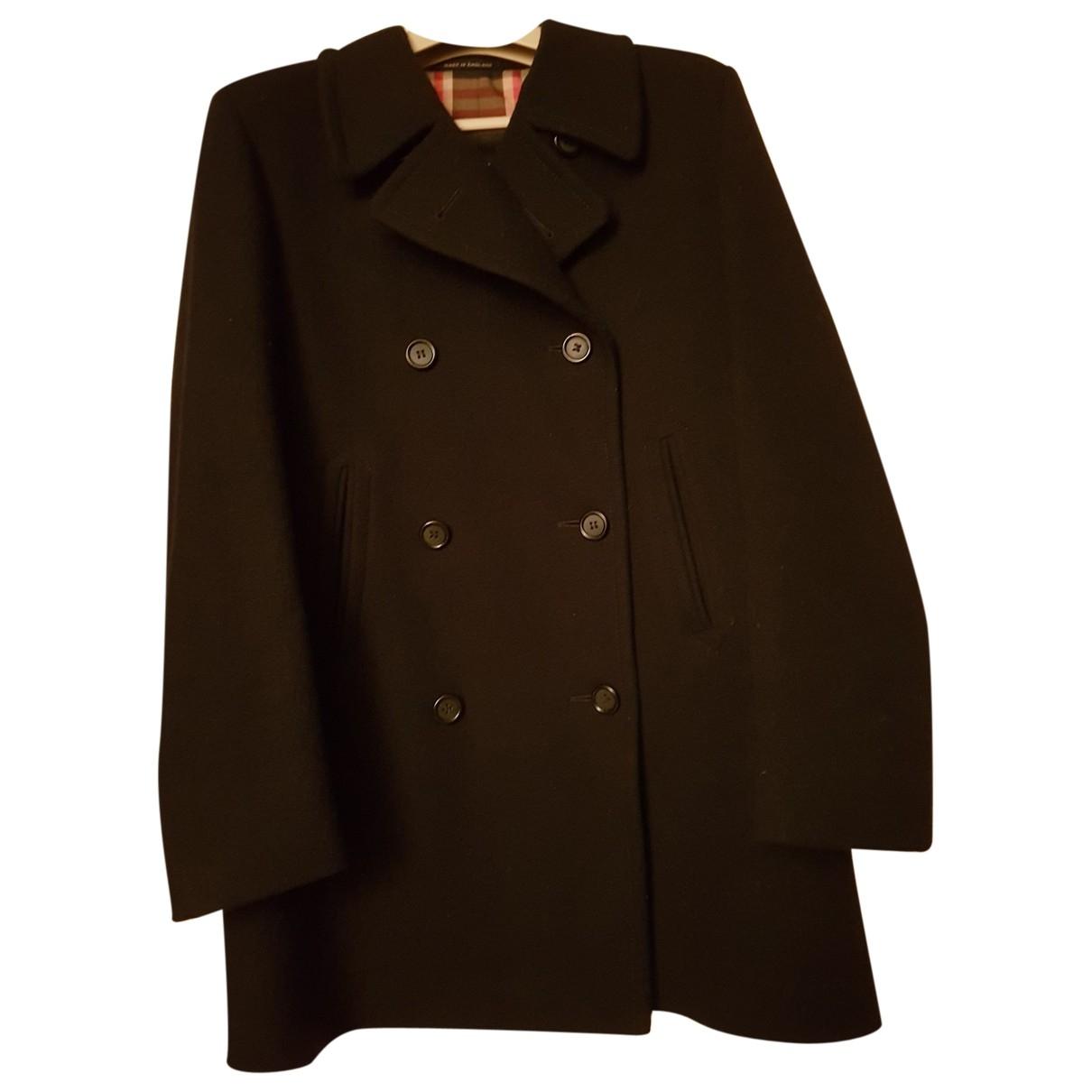 Burberry \N Black Wool coat for Women 10 UK