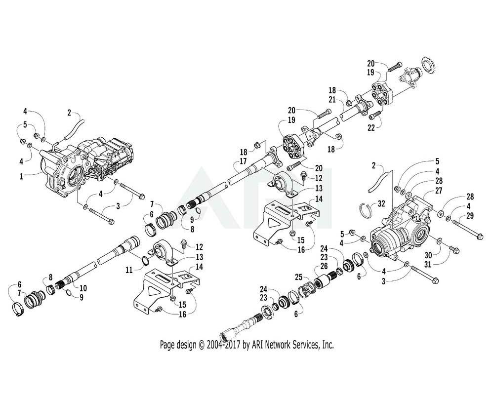 Arctic Cat OEM 2402-090 Shaft Propeller Front