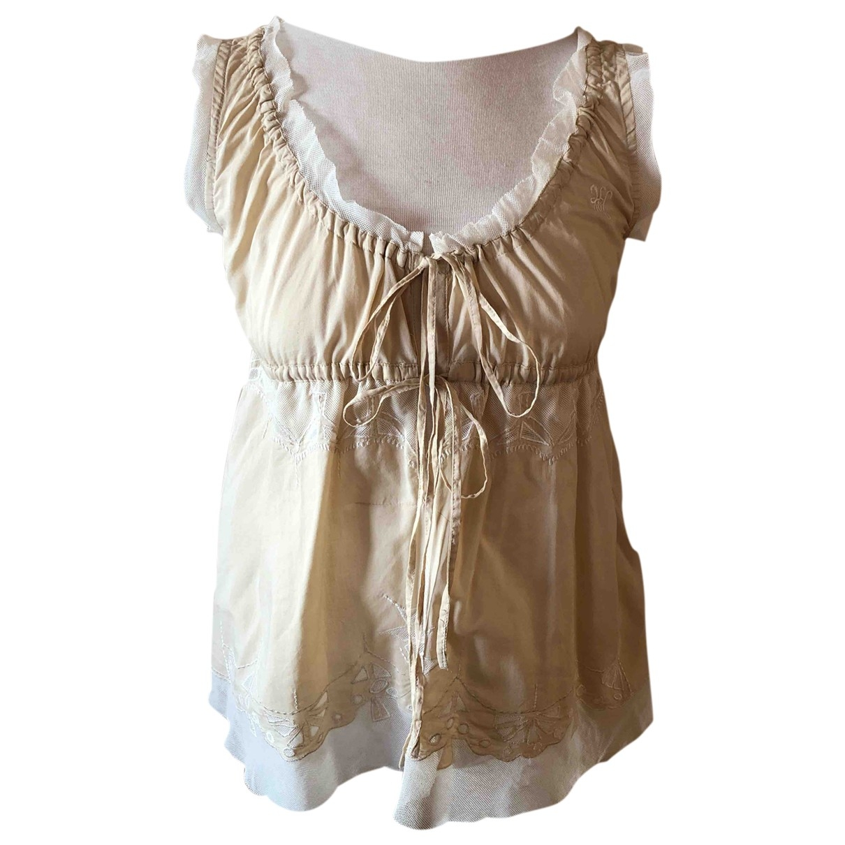 Hoss Intropia \N Beige Cotton  top for Women 38 FR